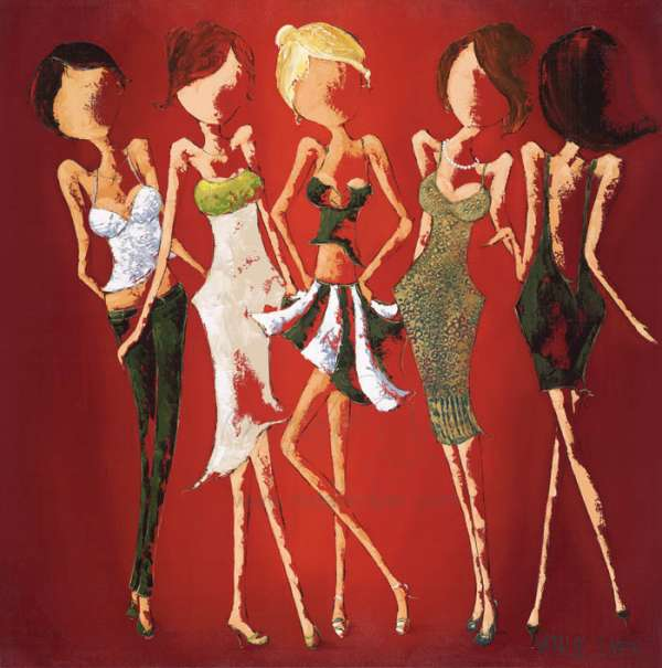 Loving life. Five glamouress
