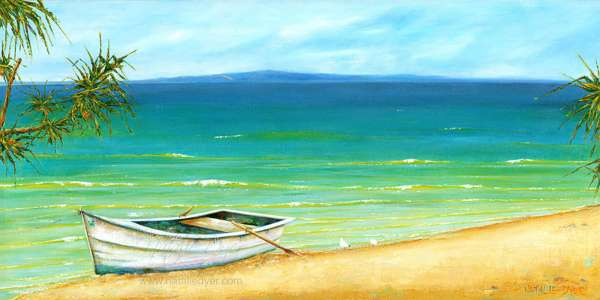 Painting of Laguna bay Noosa beach by Natalie Dyer Sunshine Coast Artist